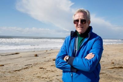 Environmental engineer Tom English on the beach in Carlsbad. Jan 24, 2016. Megan Wood, inewsource.