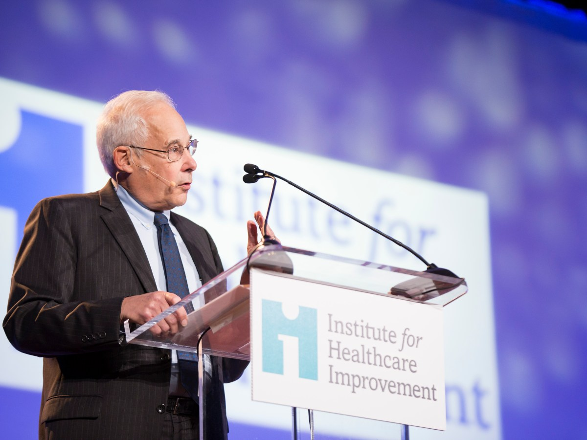 Dr. Don Berwick ran the agency that implemented the Affordable Care Act and is president emeritus and senior fellow of the Institute for Healthcare Improvement in Cambridge, Massachusetts. Photo by Matt Morse for IHI