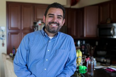 Edgar Guerrero is a military contractor and Navy veteran in the eastern Chula Vista neighborhood of San Miguel Ranch. His home is one of the more than 104,000 properties in San Diego County that pay Mello-Roos taxes. April 14, 2017. Megan Wood, inewsource