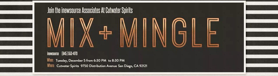 Join us in December at Cutwater Spirits.