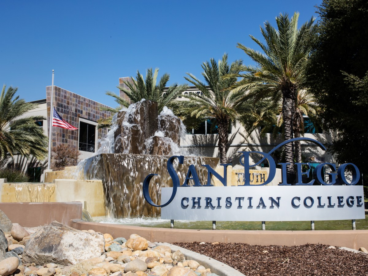 The outside of the San Diego Christian College campus in Santee is shown on Oct. 9, 2017.