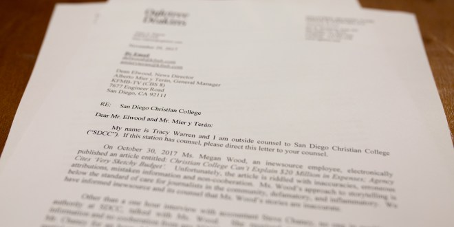 San Diego Christian College demands retraction from inewsource partner CBS 8
