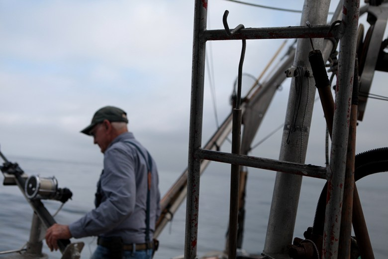 Phil Harris was a part of the Seaport negotiations and is pictured here aboard his boat, the Seanag, in July 2016. (Brad Racino/inewsource)