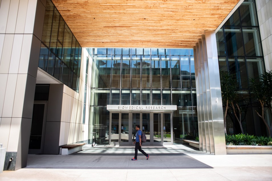 A Biomedical Research facility on the UCSD School of Medicine campus is shown on May 1, 2019.