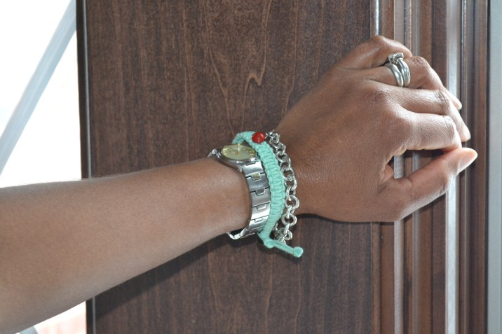 My mom models the 3Strand Bracelets