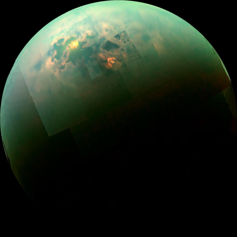 Representative-color image of Titan's surface. (Image credit: NASA)