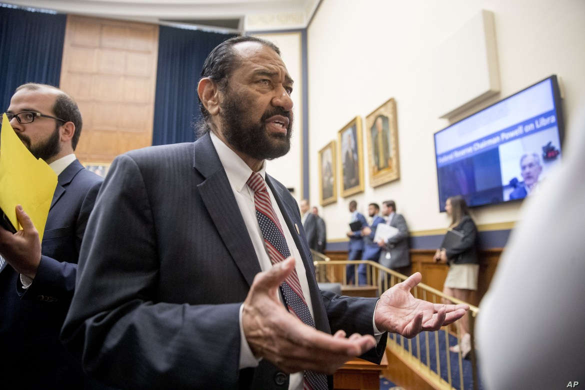 FILE - Rep. Al Green, D-Texas on Capitol Hill in Washington.