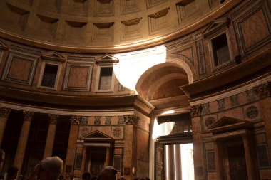 and inside the Pantheon.