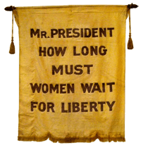 Mr President, how long must women wait for liberty?
