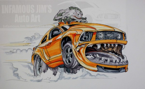 Examples Infamous Jims Auto Art - Sketches