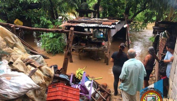 Vivienda inundada en Estanzuela