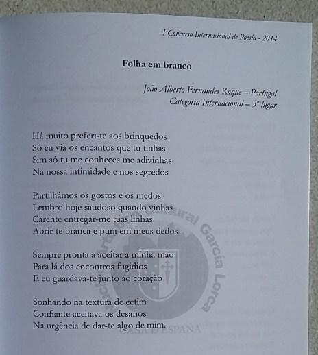 Poema Folha em branco