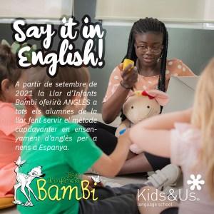 anglès a llar d'infants bambi