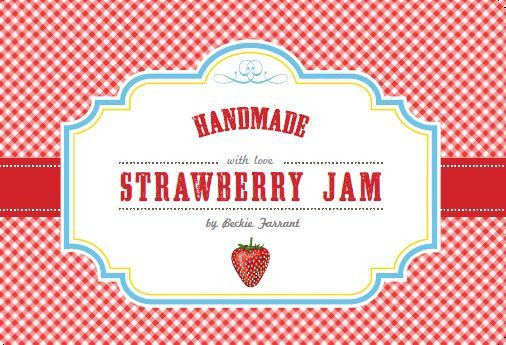 strawberry jam labels