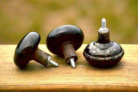 vintage door knob drawer pulls