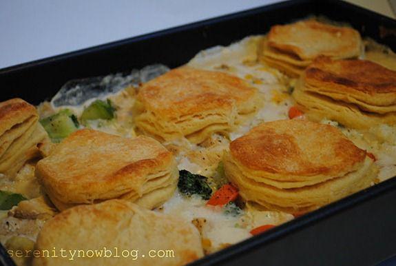 Chicken and Biscuits Casserole Recipe Serenity Now blog 5