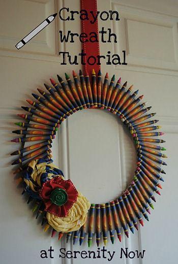 Crayon Wreath Tutorial intro serenity now blog