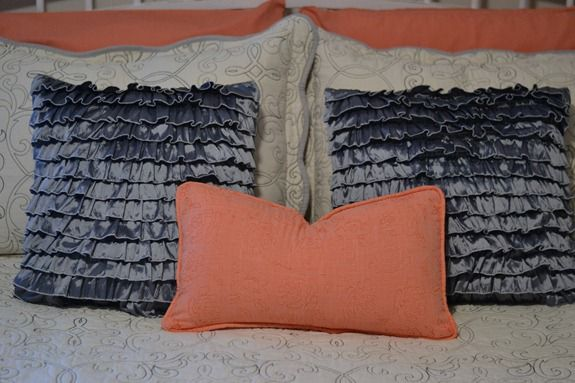 coral and gray bedding (5)