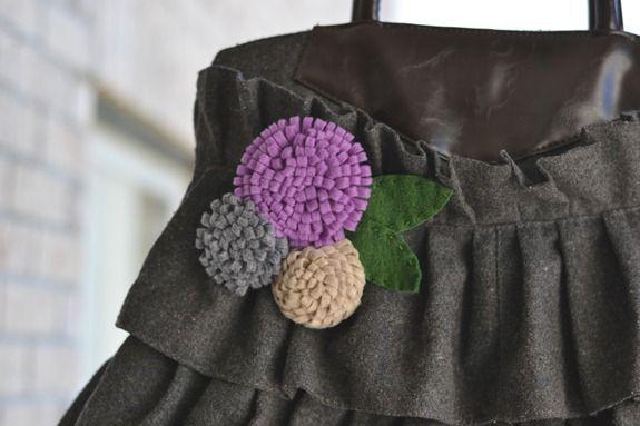 felt flower pin