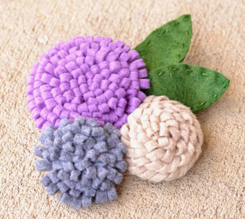 rolled felt flower tutorial