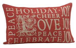 holiday stamp pillow covers