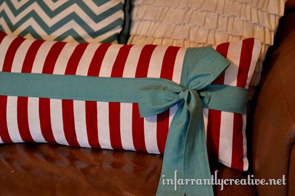 lumbar pillow with tie