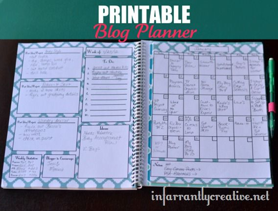 photo about Blog Planner Printable named Absolutely free Printable Website Planner - Infarrantly Resourceful