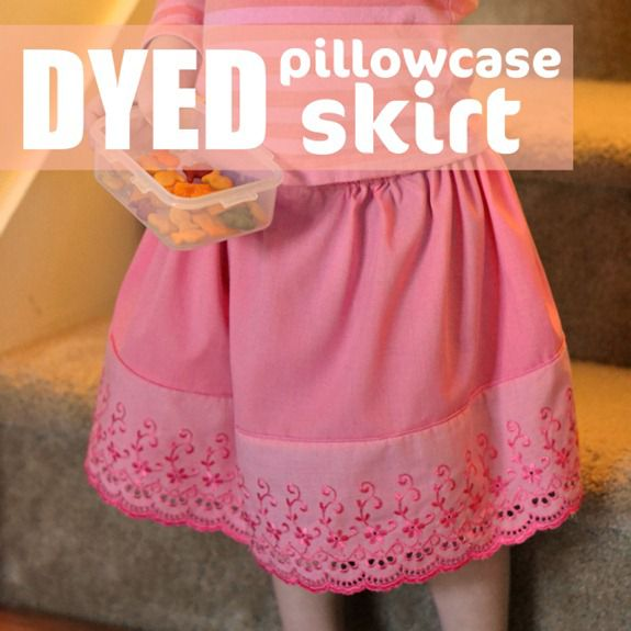 dyed pillowcase skirt