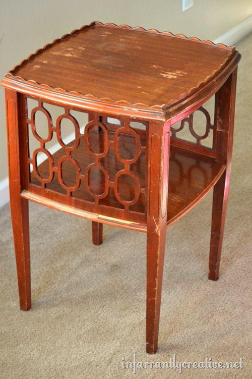 geometric shape end table