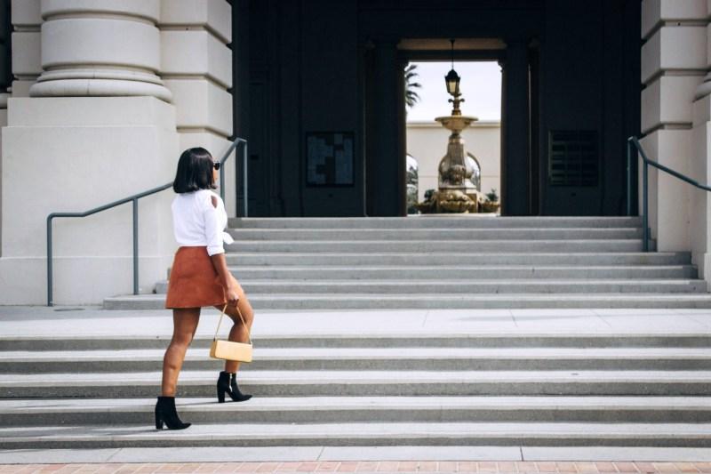 rust skirt