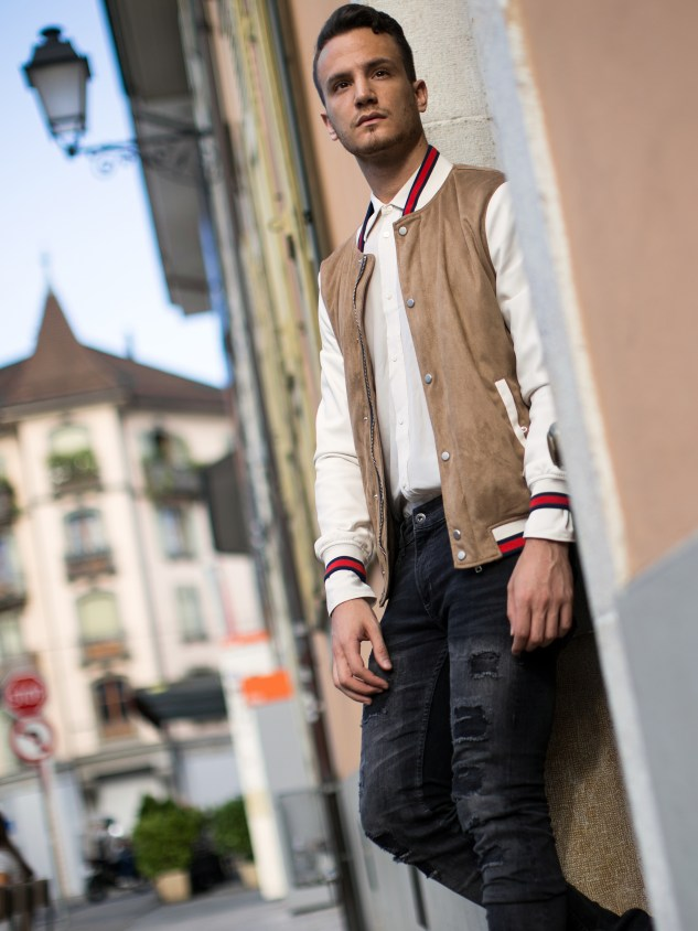 infashionity menswear fashion blog swiss henri balit photography styling varsity jacket geneva carouge