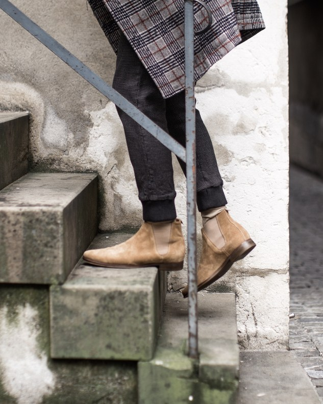 menswear fashion blog infashionity henri balit beige camel chelsea boots men's shoes