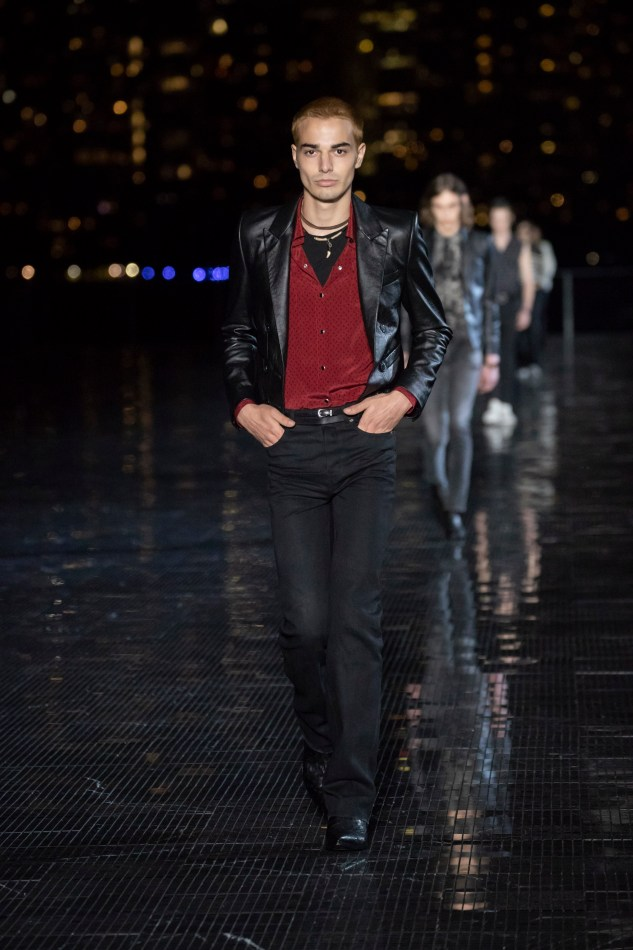 saint laurent menswear spring summer 19 collection anthon vacarello infashionity review leather jacket