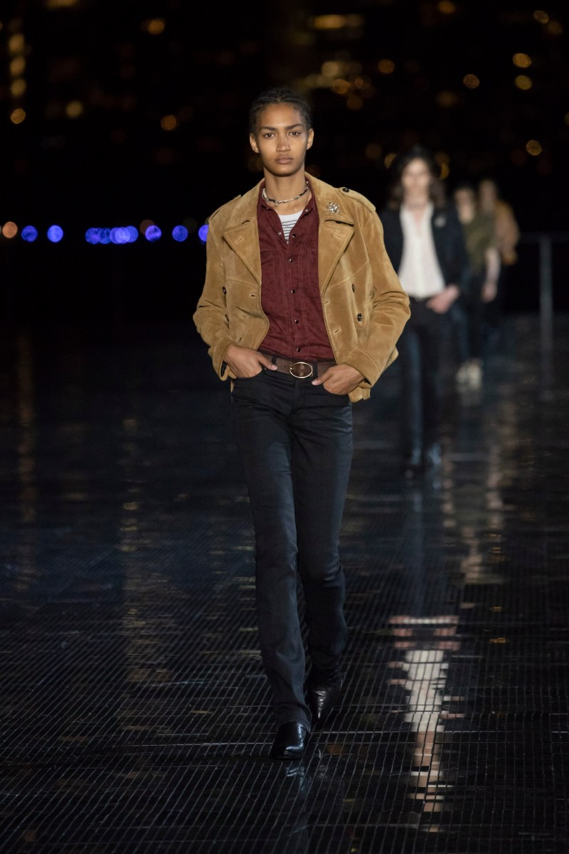 saint laurent menswear spring summer 19 collection anthon vacarello infashionity review suede jacket