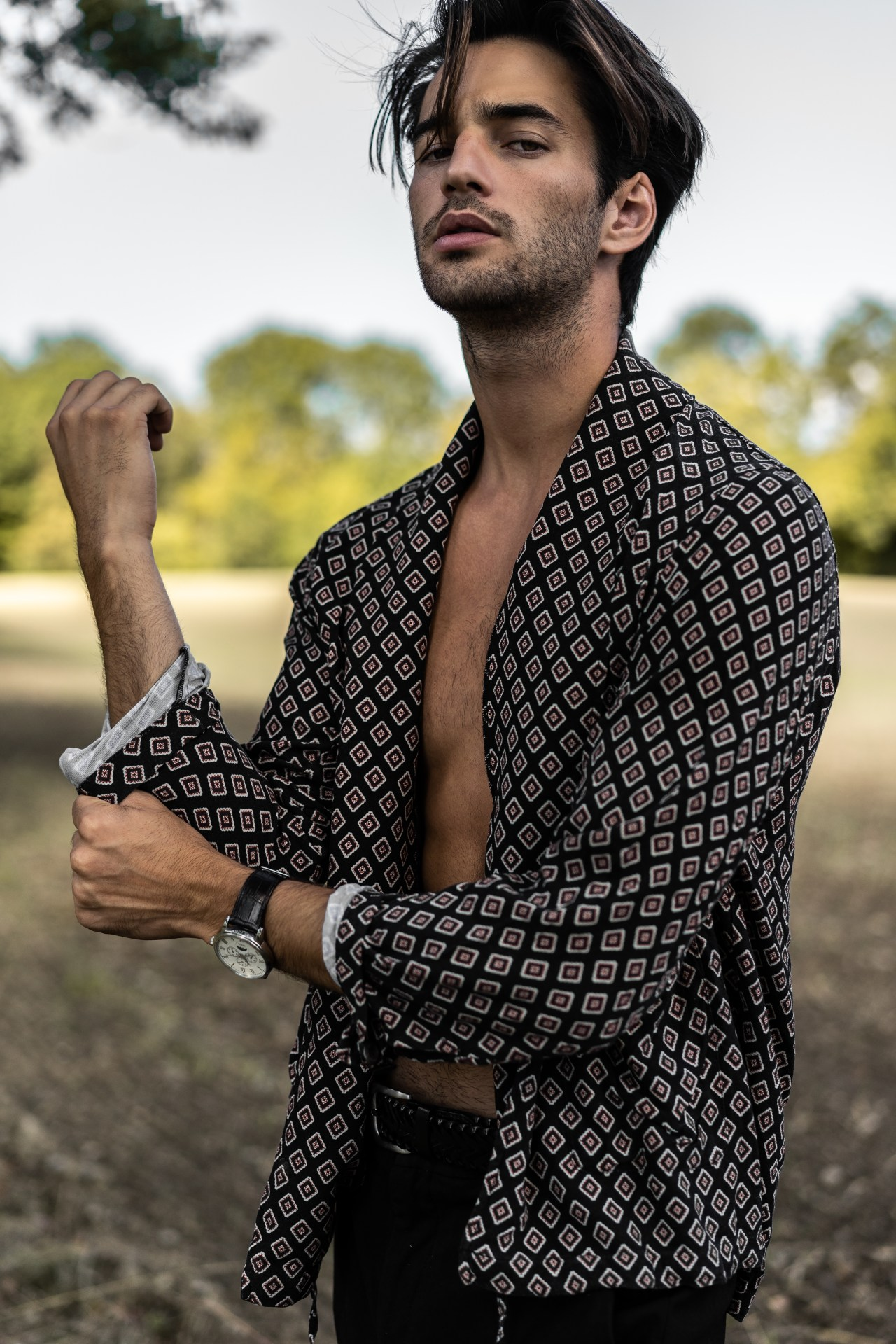 male mode field photoshoot fashion editorial henri balit infashionity the kooples kimono