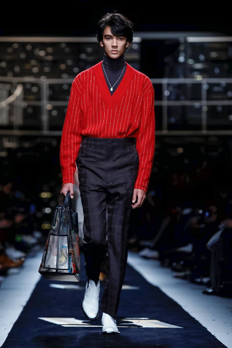 fendi fw19 red sweater