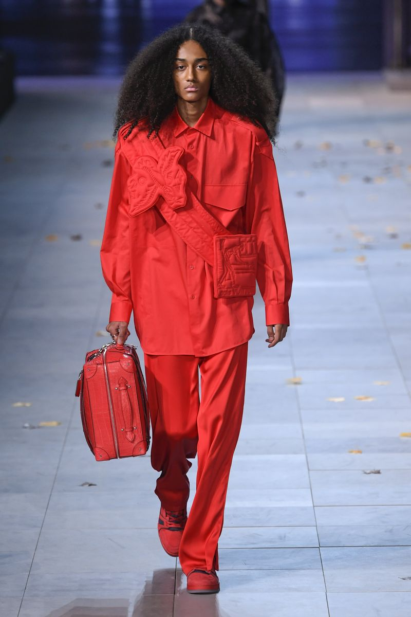 louis vuitton fw19 red look