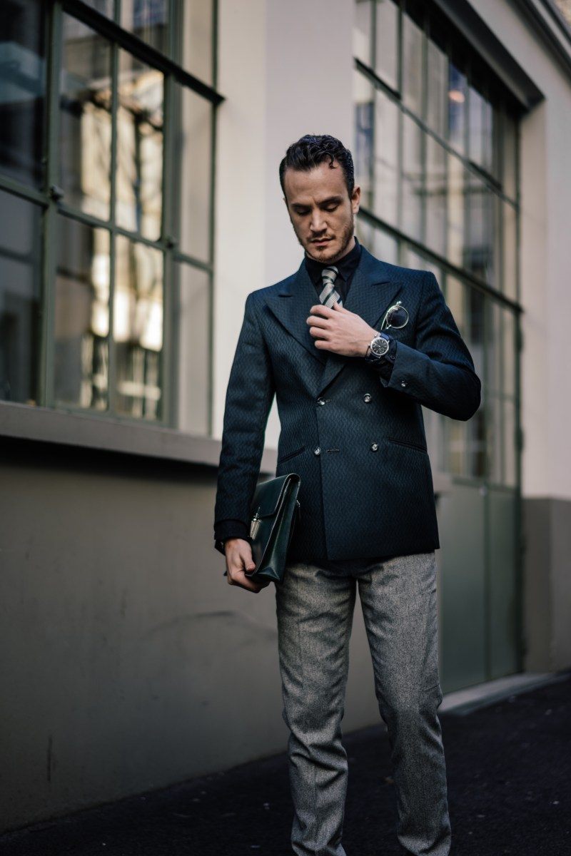 henri balit style blogger double breasted dapper