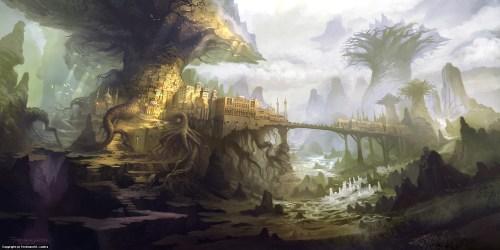 fantasy environment town
