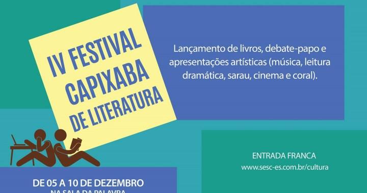 IV Festival Capixaba de Literatura começa hoje