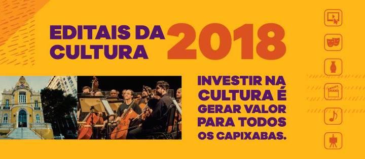 Secretaria de Estado da Cultura (Secult) divulga Editais da Cultura 2018