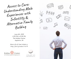 Talk - Access to Care: Understanding Male Experiences with Infertility & Alternative Family Building @ The Kaldas Center