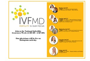 5 Days of IG Live sessions with fertility experts for NIAW @ IVFMD