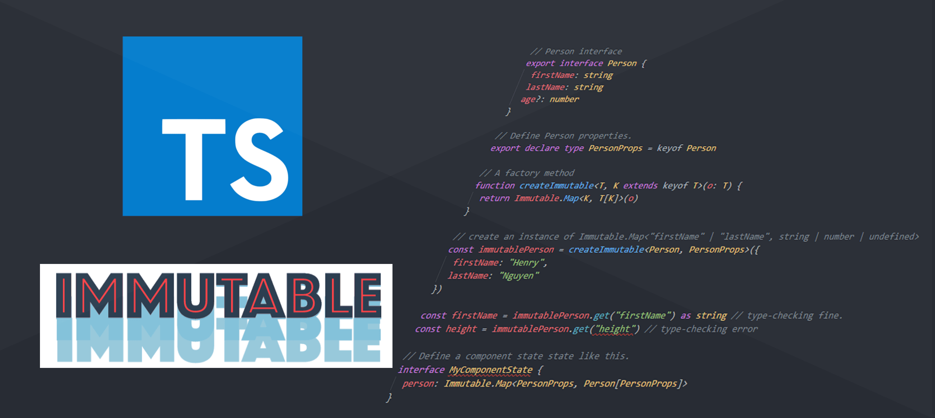 Type-checking ImmutableJS with TypeScript