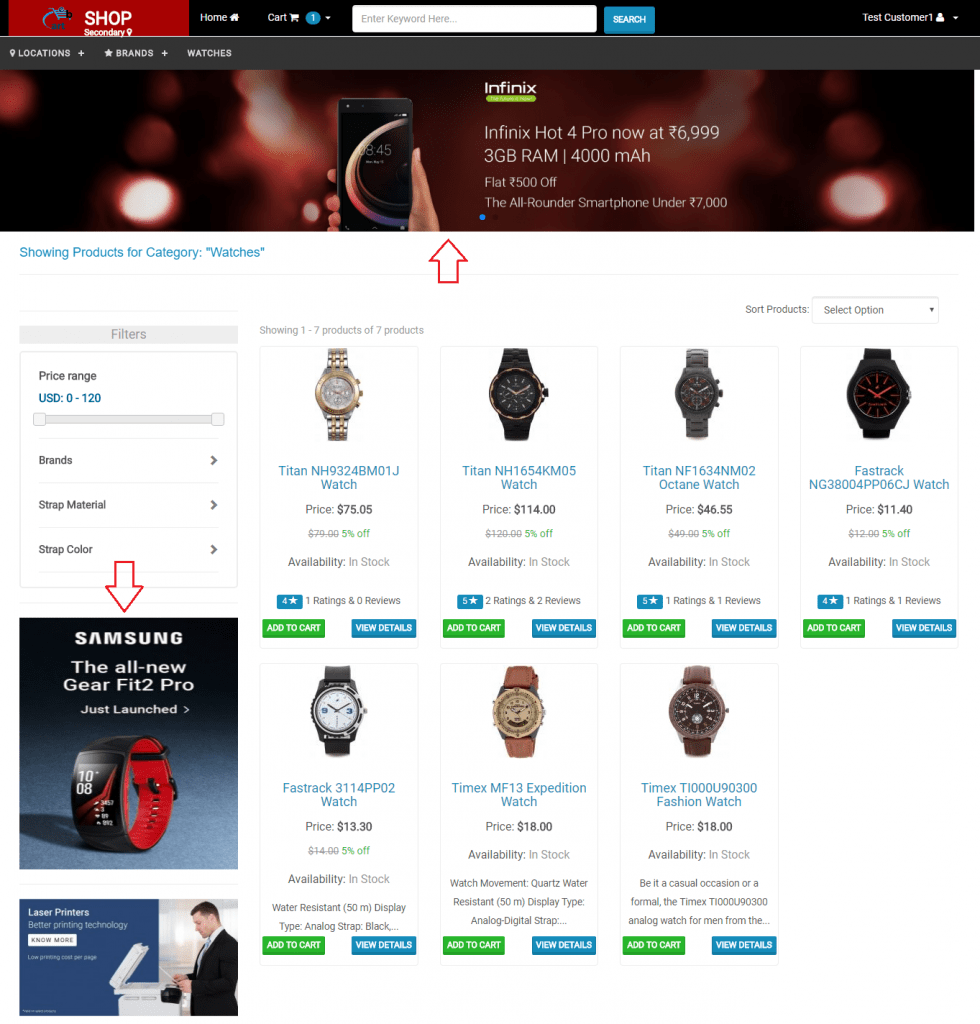 Category and Brand Page Banners - Webcart
