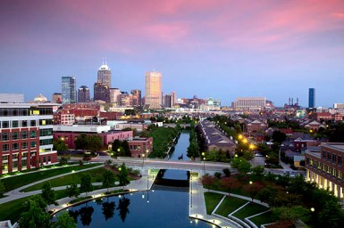Indianapolis Skyline from IU Health © Rich Clark, 2011