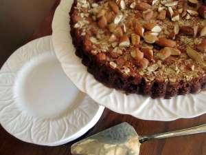 Chocolate Almond Tart   infinebalance.com #gluten-free #coconut