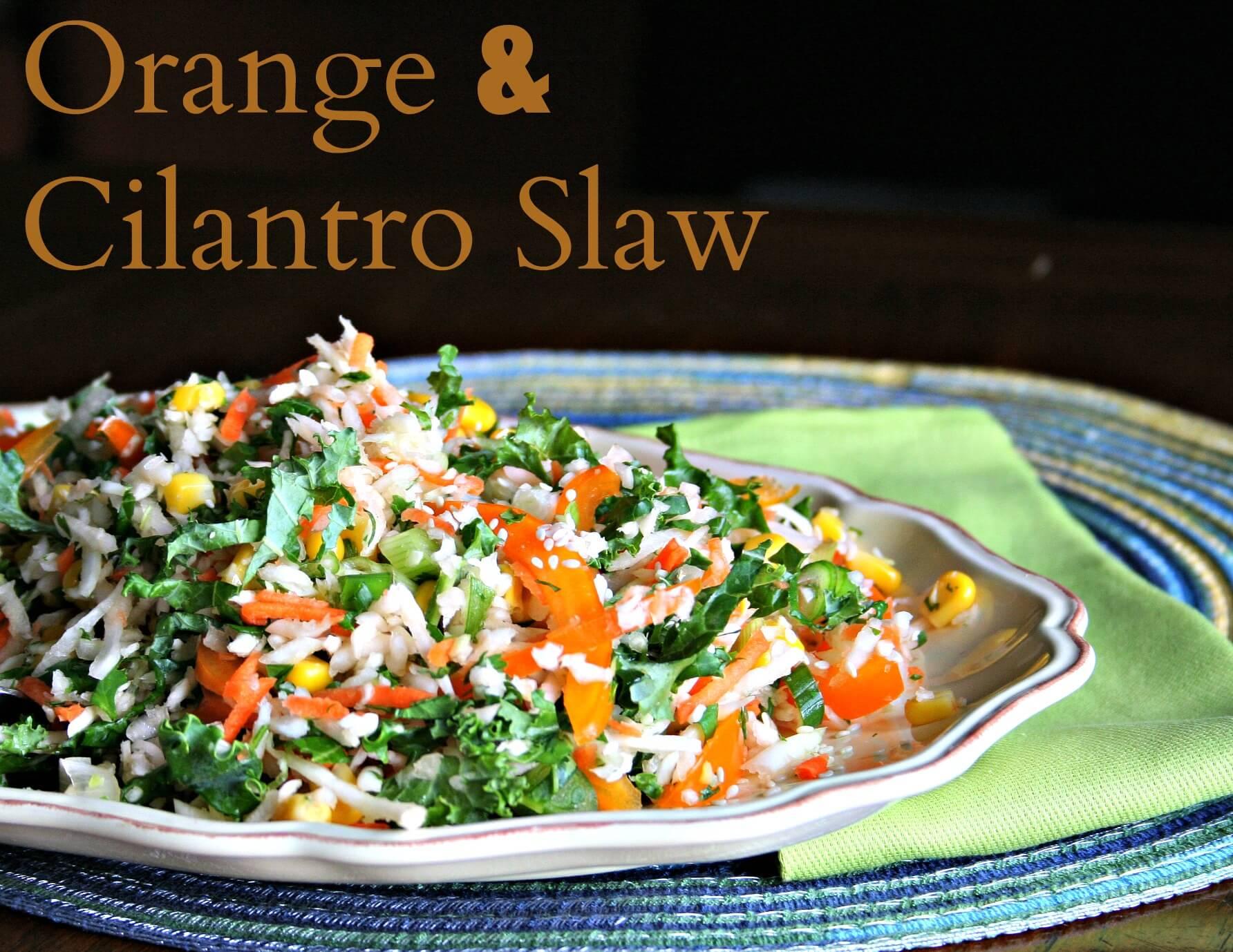Orange and Cilantro Slaw