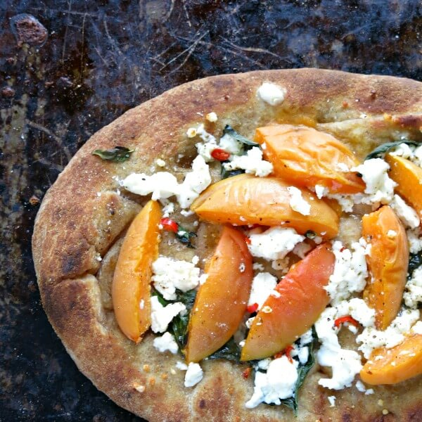 Apricot and Feta Flat Breads pizza meals flatbread feta dinner back to school apricots