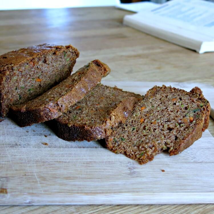 vegan zucchini carrot bread